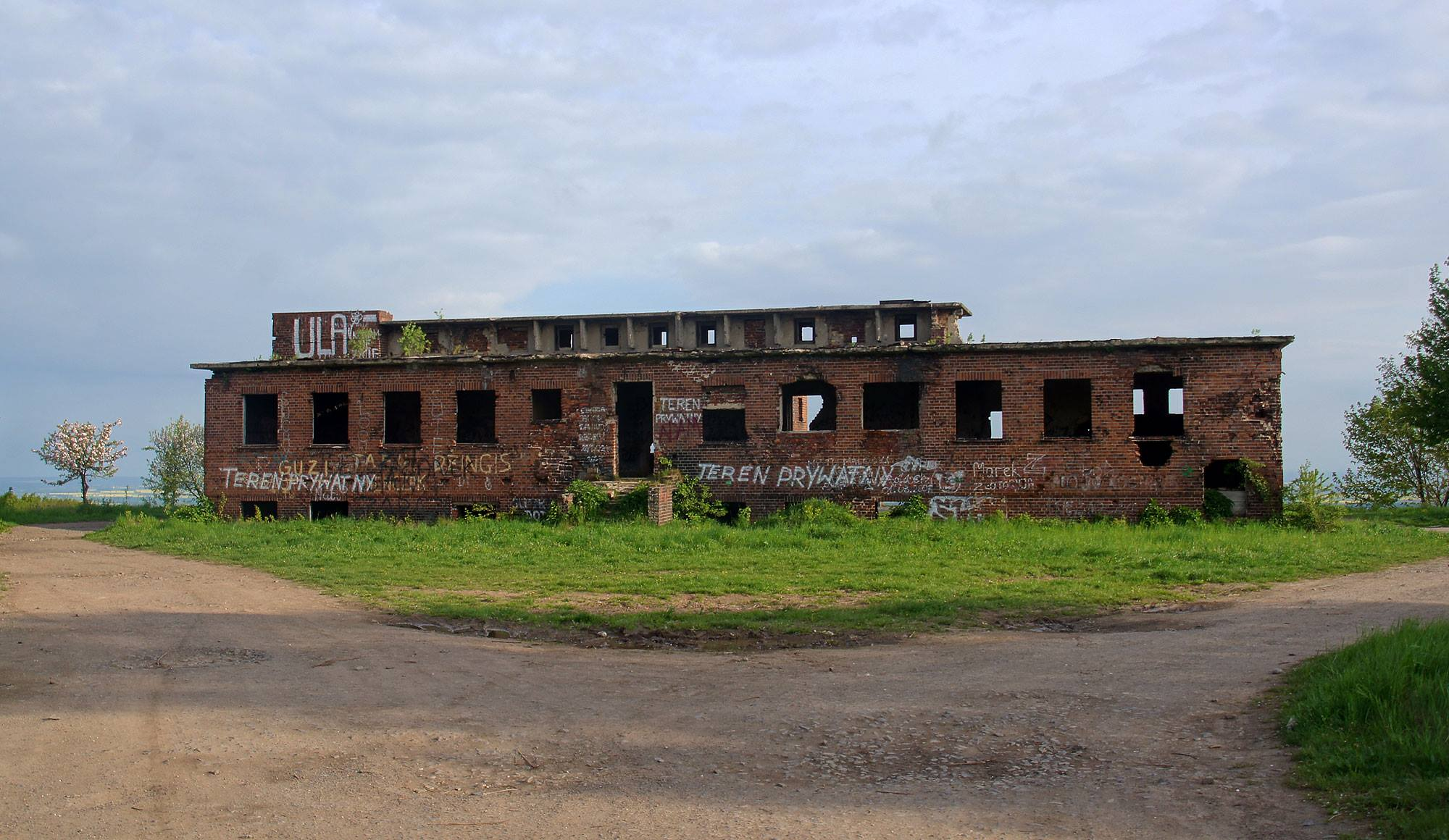 Ruiny radiostacji Rudiger 2 na Pogórzu Kaczawskim