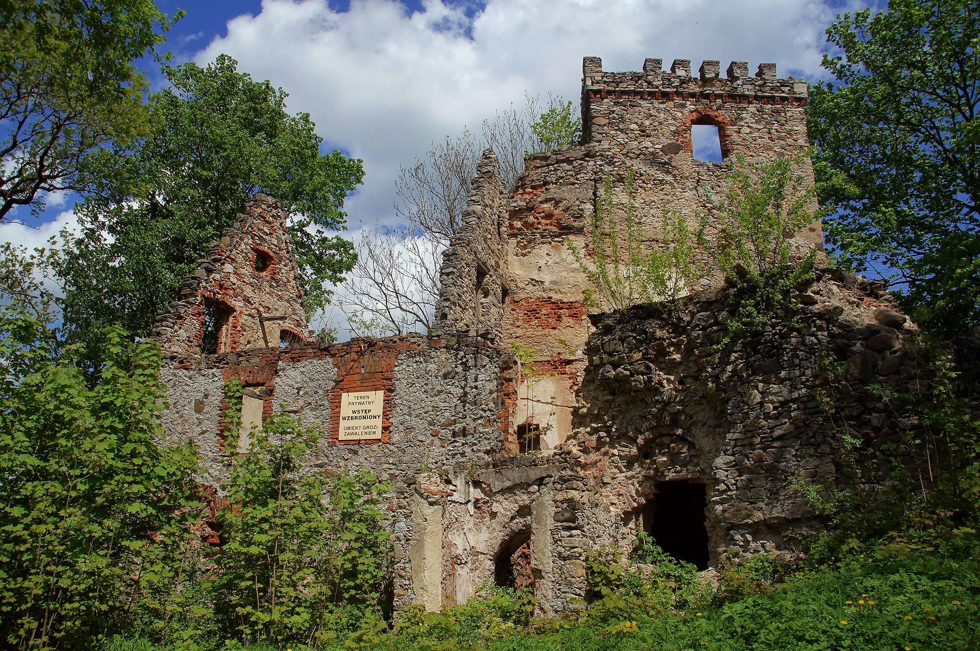 Ruiny zamku w Lipie